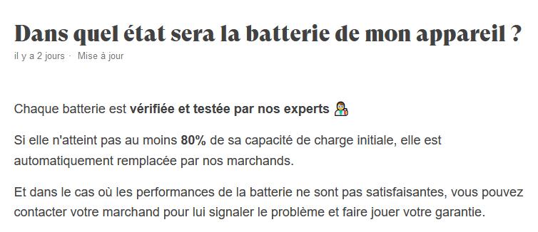 chaque batterie verifiee